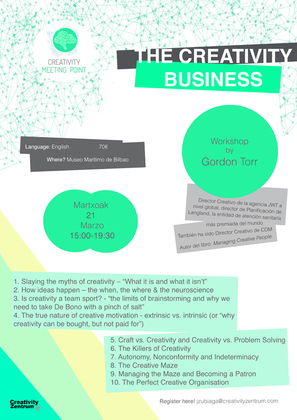 GordonTorr creativity meeting point workshop
